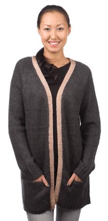 Brave Soul ženski pulover Aisha XS temno siva