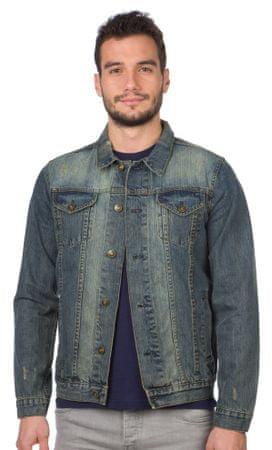 Brave Soul pánská jeansová bunda Rocky S modrá