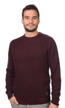 Brave Soul moški pulover Jedi XL bordo rdeča