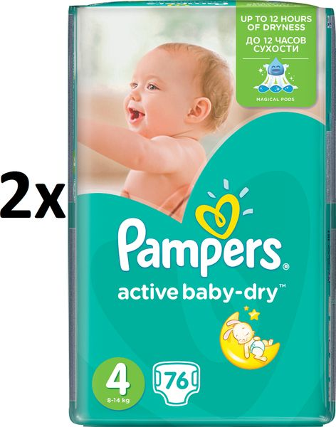 Pampers Pleny Active Baby 4 Maxi (7-14kg) Giant Pack - 152 ks