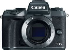 Canon fotoaparat EOS M5, črno ohišje + EF adapter