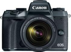 Canon EOS M5 + 15-45 STM + adaptér EF-EOS M