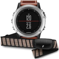 Garmin fénix 3, Sapphire Performer Bundle, Silver Leather