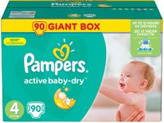 Pampers Pieluchy Active Baby 4 Maxi, GiantBox, 90 element