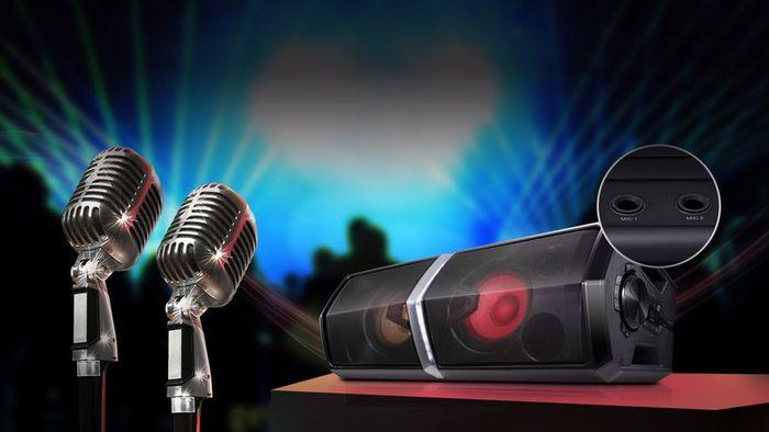 dva vstupy pro mikrofon