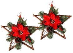 EverGreen Hviezda s dekoráciami 2 ks