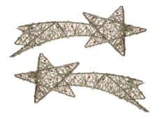 EverGreen Kometa s perličkami stříbrná 2 ks