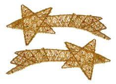EverGreen Kometa z perełkami złota 2 sztuki