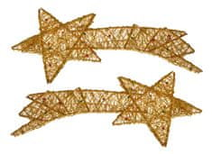 EverGreen Kometa s perličkami zlatá 2 ks