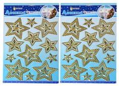 EverGreen Samolepky 3D hviezdy 2 ks