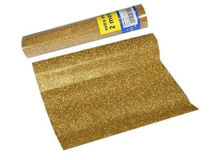 EverGreen okrasna tkanina z bleščicami iz poliestra, zlata, 2 kosa