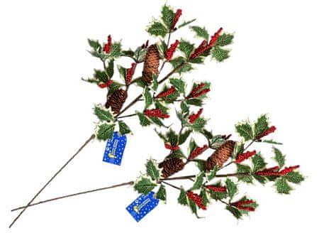 EverGreen veje za dekoracijo, omelo z majhni jagodam, 65 cm, 2 kosa