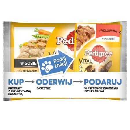 Pedigree saszetki dla psa kurczak/wołowina i ryż 36+ 9 Gratis