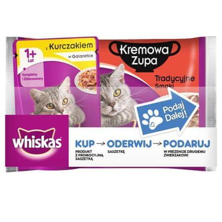 Whiskas Tradycyjna Kremowa Zupa - 36 x 85 g + 9 gratis