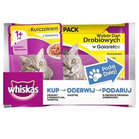 Whiskas saszetki dla kota Drobiowe Dania 36+ 9 Gratis