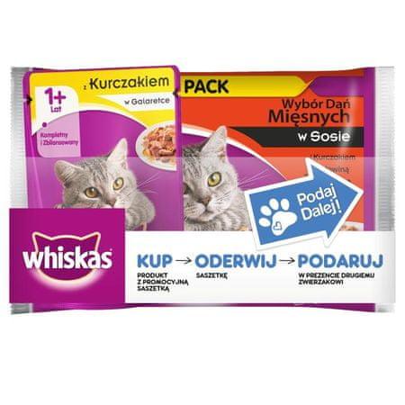 Whiskas saszetki dla kota Wybór dań mięsnych w sosie 36+ 9 Gratis