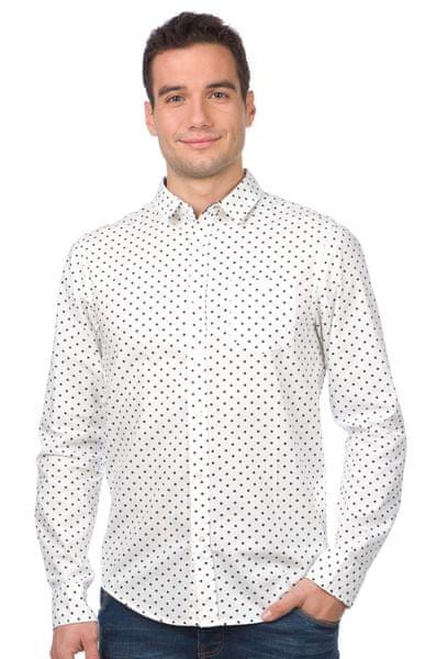 Brave Soul pánská košile Rick L bílá