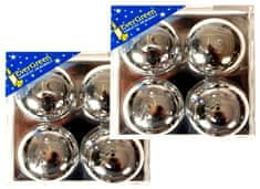 EverGreen Čajová svíčka reliéf lesk 2x 4 ks stříbrná
