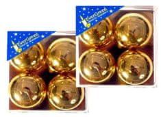EverGreen Čajová svíčka reliéf lesk 2x 4 ks zlatá