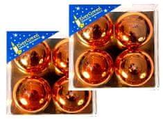 EverGreen Čajová svíčka reliéf lesk 2x 4 ks měděná