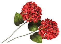 EverGreen Hortencje dekoracyjne czerwone 2 sztuki