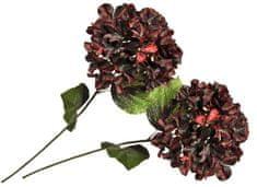 EverGreen Hortencje dekoracyjne w kolorze wina 2 sztuki
