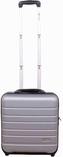 Leonardo Palubní kufr Trolley Laptop ABS stříbrná