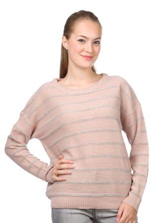 Brave Soul ženski pulover Glisten L roza