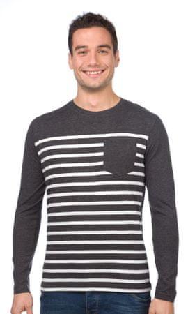 Brave Soul moška majica Fred XL siva