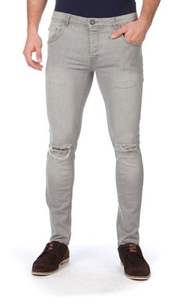Brave Soul pánské jeansy Alf 30/34 šedá