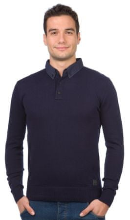 Brave Soul moški pulover Tardis L temno modra