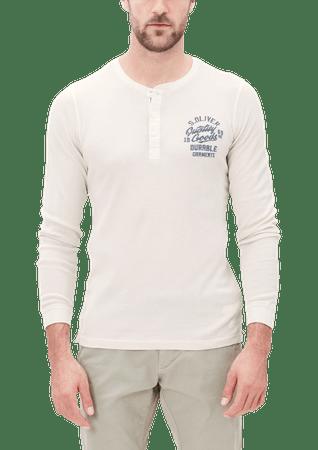 s.Oliver pánské bavlněné tričko M smotanová