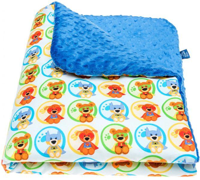 CuddlyZOO Dětská deka s výplní, vel. M - superhero/modrá