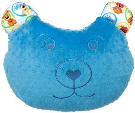 CuddlyZOO Multifunkčný vankúš Medveď - superhero/modrá