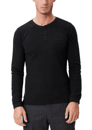 s.Oliver férfi póló M fekete