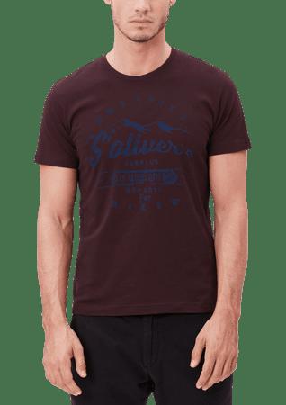 s.Oliver pánské tričko XL vínová