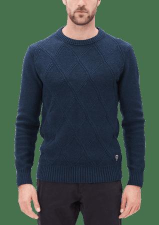s.Oliver pánský svetr M tmavo modrá