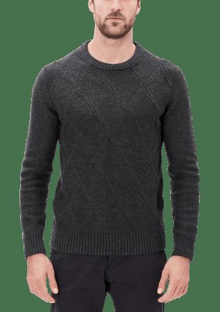 s.Oliver férfi kardigán XL sötét szürke
