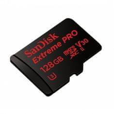 SanDisk spominska kartica micro SDXC Extreme Pro 128 GB Class10 U3 V30 UHS-1