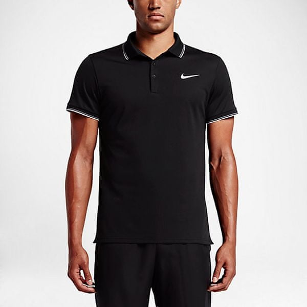 Nike Court Polo Black/Black/White XL