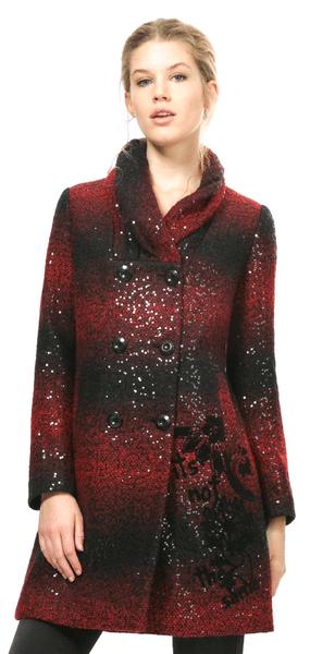 Desigual dámský kabát 38 červená