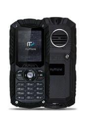 myPhone Hammer Plus, DualSIM, černý