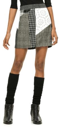 Desigual dámská krátká sukně 38 šedá