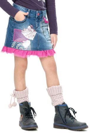 Desigual dievčenská sukňa 152 modrá