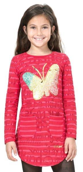 Desigual dívčí šaty 128 červená
