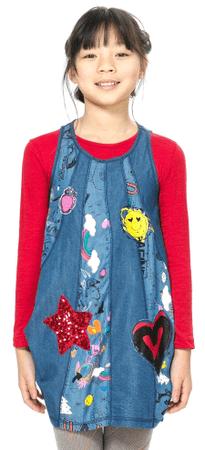 Desigual dievčenské šaty 104 modrá