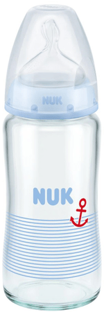 Nuk FC+ láhev sklo 240ml, S, V1-M - modrá