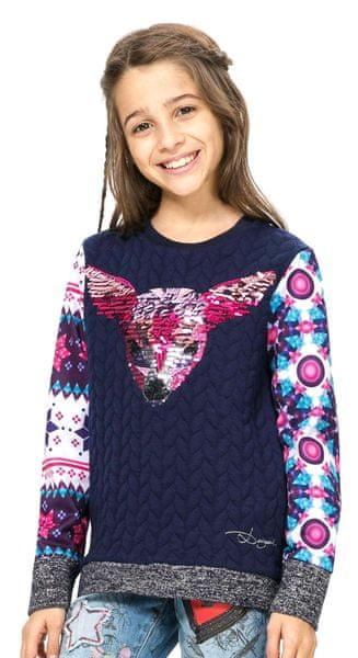 Desigual dívčí svetr 104 modrá