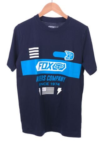 FOX fantovska majica Osage Ss Tee 128 temno modra
