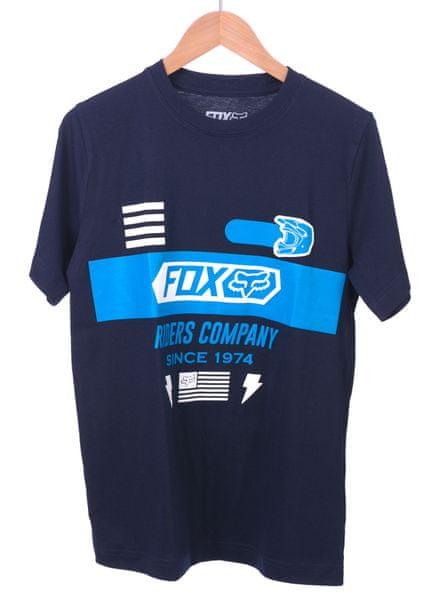 FOX chlapecké tričko Osage Ss Tee 140 tmavě modrá